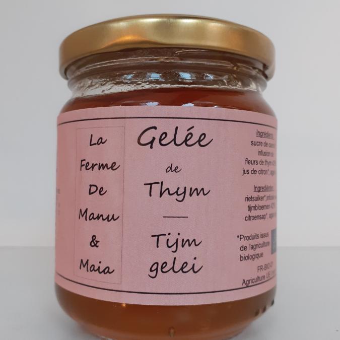 La ferme de Manu et Maia - Gelée de thym BIO - Confiture Artisanale