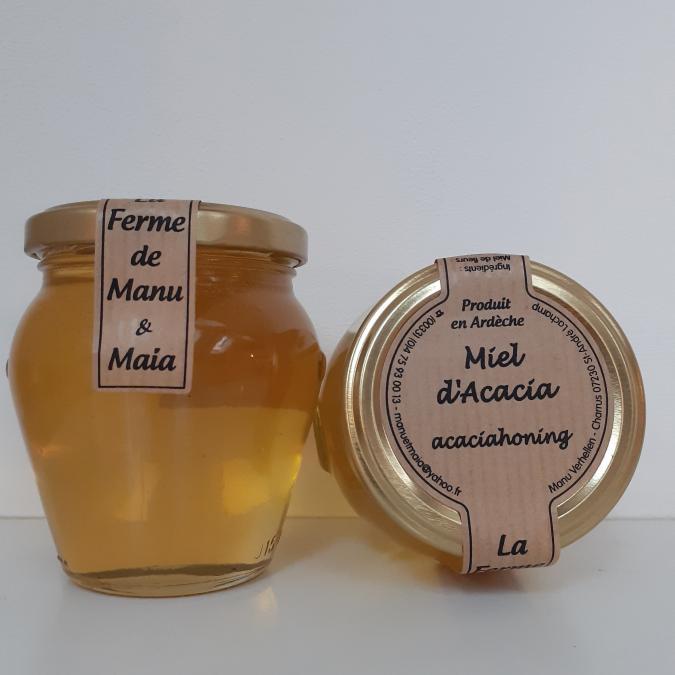 La ferme de Manu et Maia - Miel d'acacia 400g - Miel - 4668