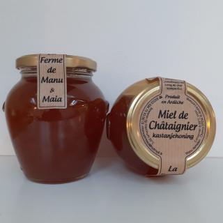 La ferme de Manu et Maia - Miel de châtaignier BIO 400g - Miel - 4668