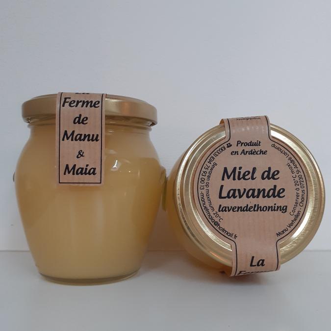 La ferme de Manu et Maia - Miel de lavande 250g cristallisé - Miel -