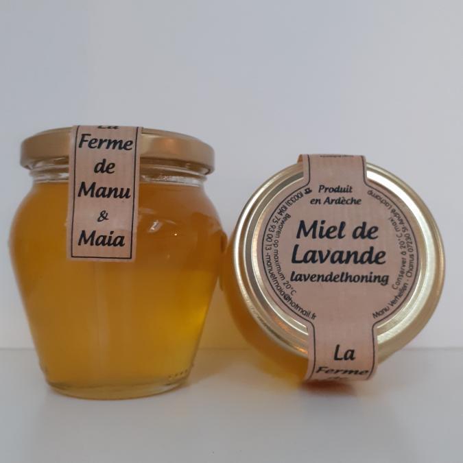 La ferme de Manu et Maia - Miel de lavande 250g liquide - Miel - 4668