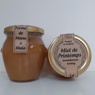 La ferme de Manu et Maia - Miel de printemps 400g cristallisé - Miel - 4668