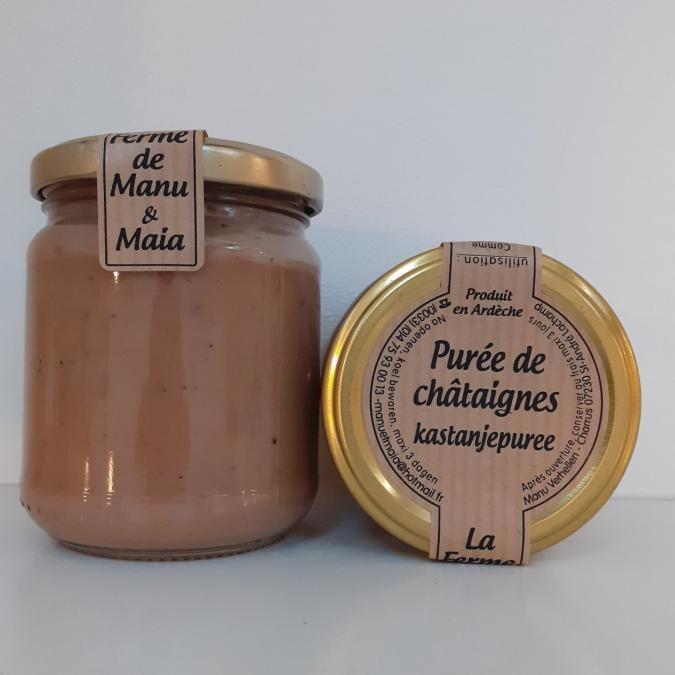 La ferme de Manu et Maia - Purée de châtaignes BIO - Confiture Artisanale