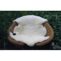 Laines Paysannes - Peau d'agneaux lainées - 85 cm - Peau d'agneau