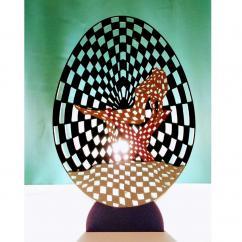 Lampaline - Lampe artistique trompe l'oeil - Lampe de table - ampoule(s)