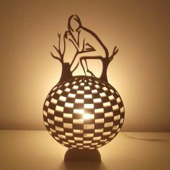 Lampaline - Lampe boule effet optique - Lampe de chevet - ampoule(s)
