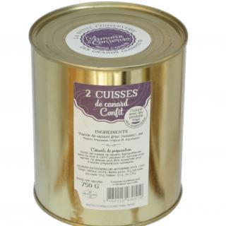 L'armoire à Conserves - 2 cuisses de canard confites - Cuisse de canard