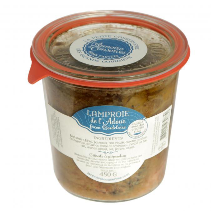 L'armoire à Conserves - Lamproie de l'Adour 500gr - Conserve et soupe de poisson