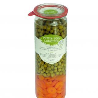 L'armoire à Conserves - Petits pois carottes - Légumes en conserve - 0.350