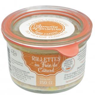 L'armoire à Conserves - Rillettes de canard au foie gras 150gr - Rillettes de canard - 0.15