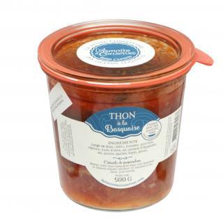 L'armoire à Conserves - Thon à la basquaise 500gr - Conserve et soupe de poisson