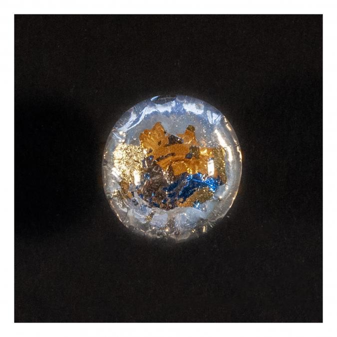 Bijoux l'Art de recycler - Bague boule couleur (Terre) - Bague - Verre