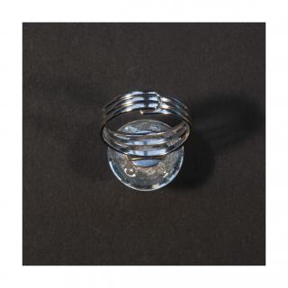 Bijoux l'Art de recycler - Bague boule Lune / Hommage à Apollo 11 - Bague - Verre