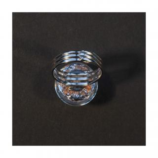 Bijoux l'Art de recycler - Bague boule Mars - Bague - Verre