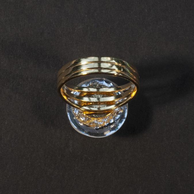 Bijoux l'Art de recycler - Bague boule Soleil - Bague - Verre