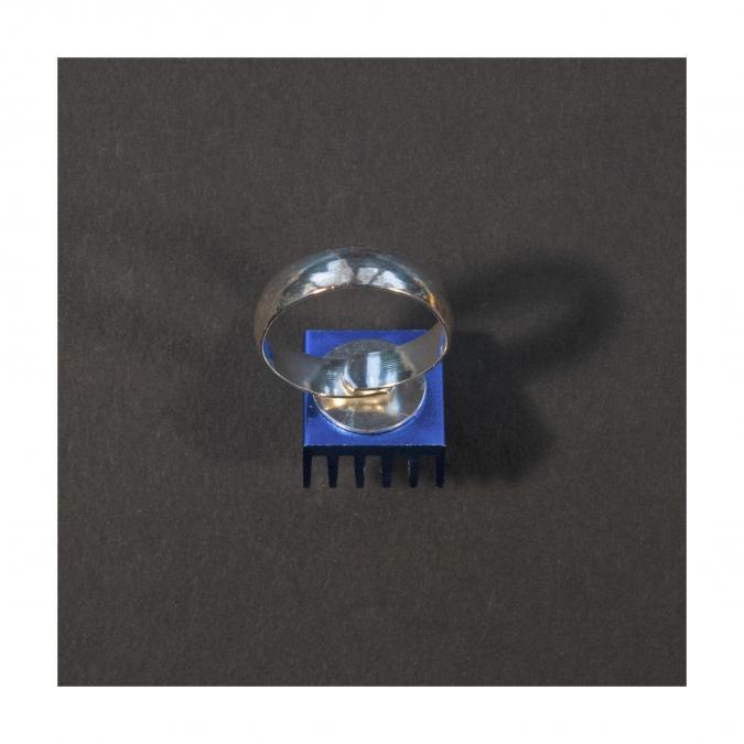 Bijoux l'Art de recycler - Bague ordi bleue - Bague - Aluminium