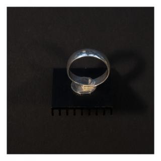 Bijoux l'Art de recycler - Bague ordi noire / Hommage à Soulages - Bague - Aluminium