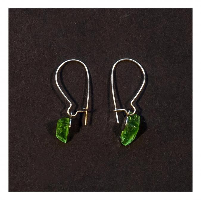 Bijoux l'Art de recycler - Boucles d'oreilles dormeuses - Boucles d'oreille - Verre