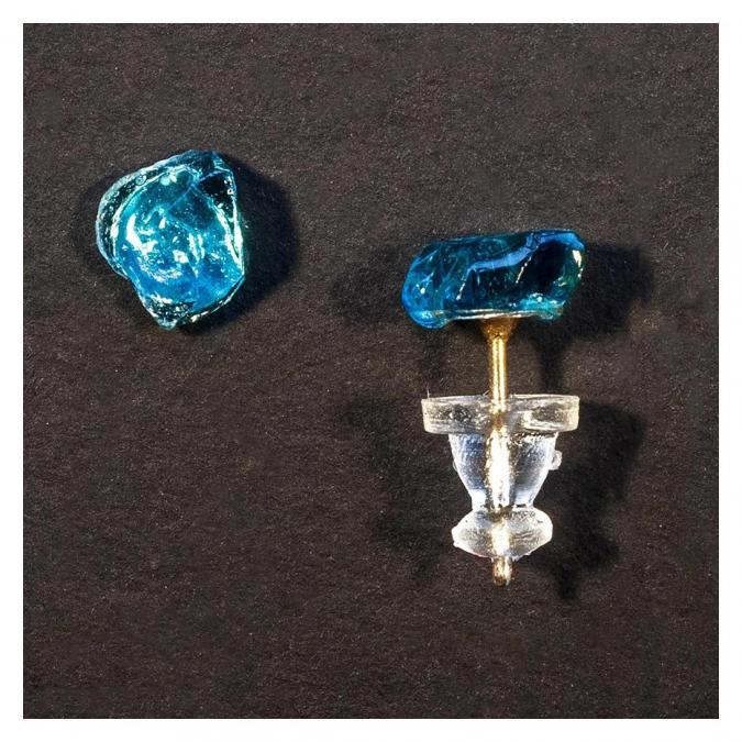 Bijoux l'Art de recycler - Boucles d'oreilles puces - Boucles d'oreille - Verre