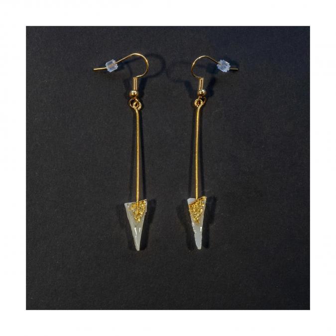 Bijoux l'Art de recycler - Boucles d'oreilles tiges - Boucles d'oreille - Verre