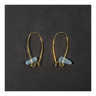 Bijoux l'Art de recycler - Boucles d'oreilles verre de mer - Boucles d'oreille - Verre