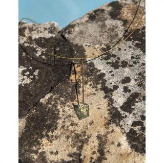 Bijoux l'Art de recycler - Collier tige - Collier - verre, feuille d'or