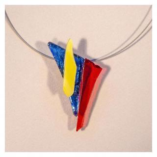 Bijoux l'Art de recycler - Collier vitrail - Collier - Verre