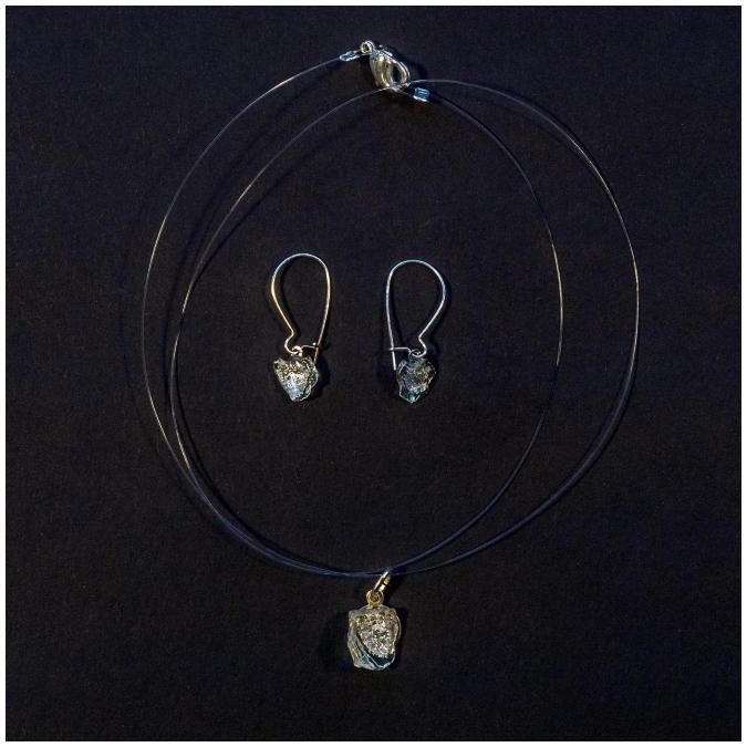 Bijoux l'Art de recycler - Parure poussière d'étoile argent - parure de bijoux