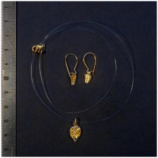 Bijoux l'Art de recycler - Parure poussière d'étoile or - parure de bijoux