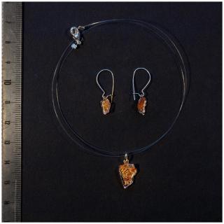 Bijoux l'Art de recycler - Parure poussière d'étoile or rose - parure de bijoux