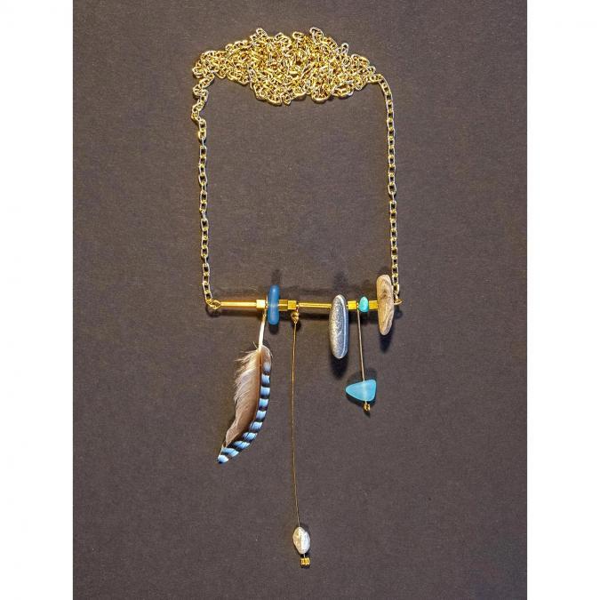 Bijoux l'Art de recycler - Sautoir ethnique - Sautoir