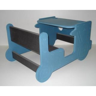 L'artisan du meuble ROLLAND - Bureau enfant bois bleu - jouet en bois