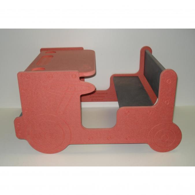L'artisan du meuble ROLLAND - Bureau enfant bois rouge - jouet en bois