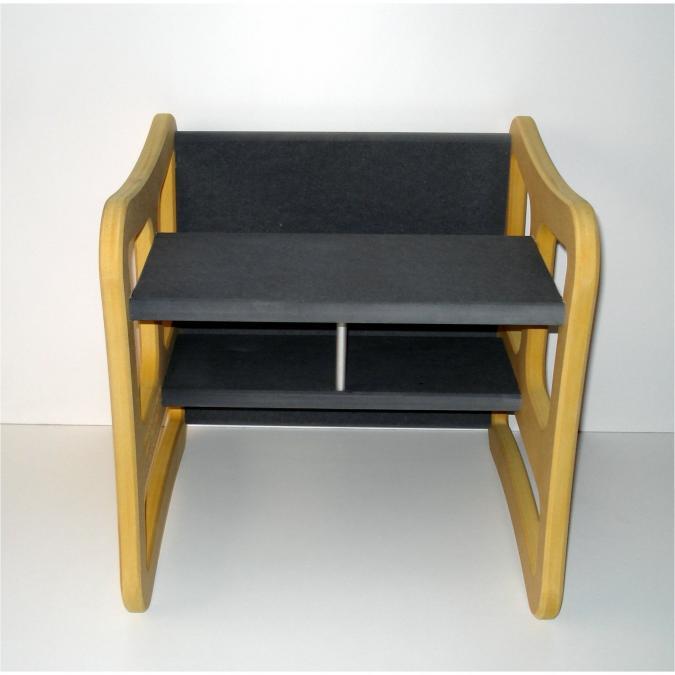 L'artisan du meuble ROLLAND - Chaise enfant multifonction jaune - jouet en bois