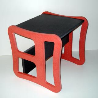 L'artisan du meuble ROLLAND - Chaise enfant multifonction rouge - jouet en bois