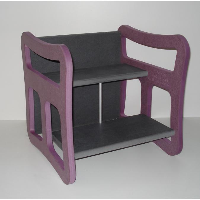L'artisan du meuble ROLLAND - Chaise enfant multifonction violet - jouet en bois