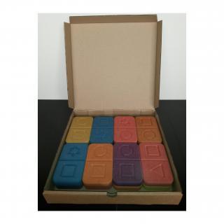 L'artisan du meuble ROLLAND - Domino bois couleur 16 pièces - jouet en bois