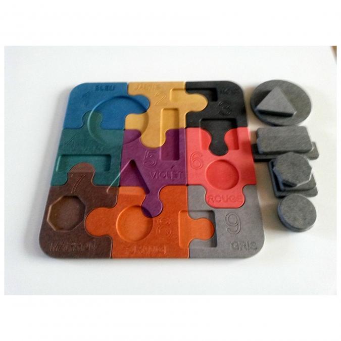 L'artisan du meuble ROLLAND - Puzzle bois multicouleur - jouet en bois
