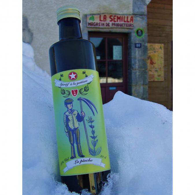 La Semilla - Distillerie Aymonier - Apéritif à la Gentiane bio, La Pioche - Apéritif