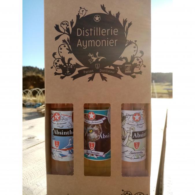 La Semilla - Distillerie Aymonier - Coffret découverte 3 Absinthes bio - Absinthe