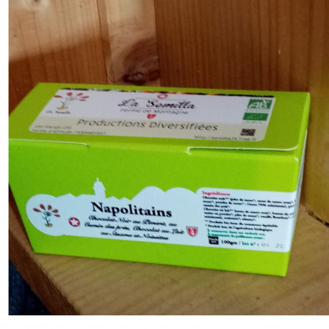 La Semilla - Distillerie Aymonier - Napolitains 3 choco bio - Chocolat