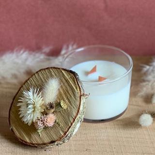 L'Atelier Hanami - Bougie végétale Fleur de Coton - Bougie - Fleur de  Coton