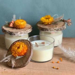 L'Atelier Hanami - Bougie végétale Fleur d'Oranger - Bougie - Fleur d'Oranger