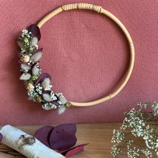 """L'Atelier Hanami - Couronne Murale """"Appoline"""" - Couronne de Fleurs"""