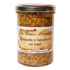 Le Vieux Moulin Alain Farnoux - MOUTARDE À L'ANCIENNE AU MIEL 210G - Moutarde