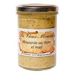Le Vieux Moulin Alain Farnoux - MOUTARDE AU THYM & MIEL 210G - Moutarde