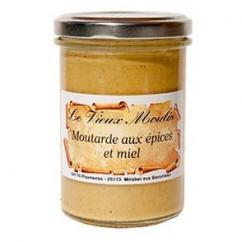 Le Vieux Moulin Alain Farnoux - MOUTARDE AUX EPICES & MIEL 210G - Moutarde