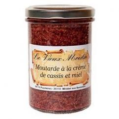 Le Vieux Moulin Alain Farnoux - MOUTARDE CRÈME CASSIS & MIEL 210G - Moutarde