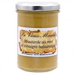 Le Vieux Moulin Alain Farnoux - POT MOUTARDE MIEL VINAIGRE BALSAMIQUE 210G - Moutarde