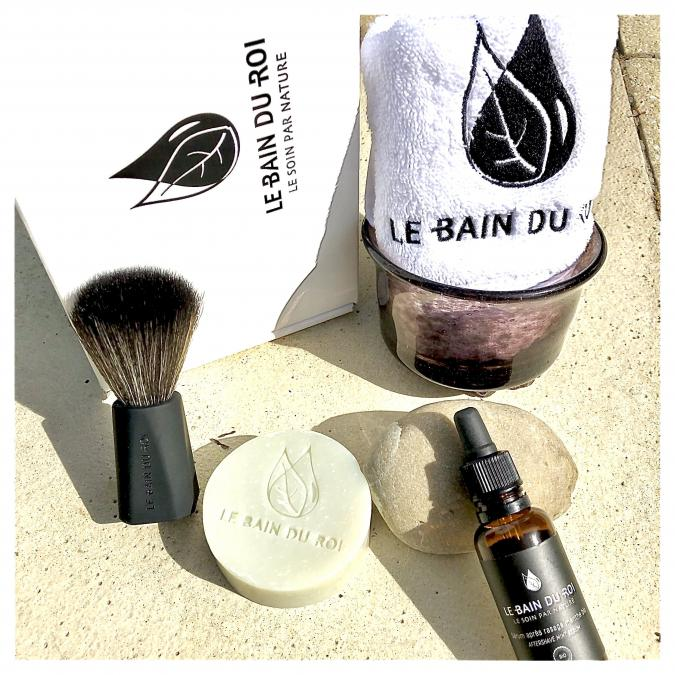 LEBAINDUROI - Coffret de Rasage Idéal Royal - Menthe bio - coffret à barbe